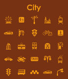 Set of city simple icons Royalty Free Stock Photos