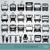 Set of city transport Stock Image