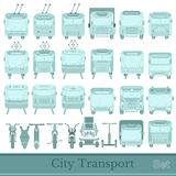 Set of city transport Stock Images