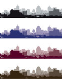 Set of cityscapes Stock Image