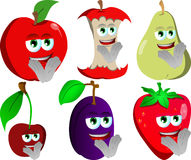 Set of clapping fruits Stock Photo