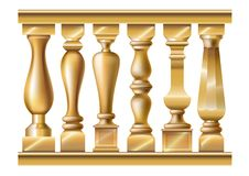 Set of classic balusters Royalty Free Stock Images