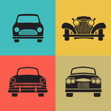 Set classic car front view icon vector vector illustration