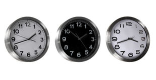 Set of classic clocks Royalty Free Stock Photography
