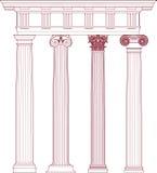 Set classic columns Stock Photo