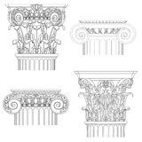 Set of classic columns. Vector drawing royalty free illustration