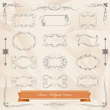 Set of Classic elegant frames vector Royalty Free Stock Photo