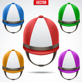Set of Classic Jockey helmets Royalty Free Stock Image