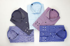 Set classic men's shirts Stock Photos