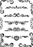 Set of classic scrolls Stock Photos