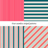 Set of classic seamless striped patterns. Set of classic colorful seamless striped patterns. Basic shapes backgrounds collection. Can be used for website Stock Images