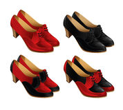 Set of classic shoes for women Stock Image