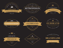 Set of classic vintage banners or labels Stock Photos