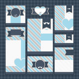 Set of classic wedding cards Stock Images