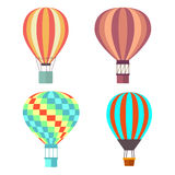 Set classical balloons to travel by air. Vector, illustration isolated on white background EPS10. Stock Images