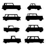 Set of classical cars. Royalty Free Stock Photography