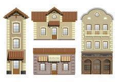 Set classical facades Stock Photography