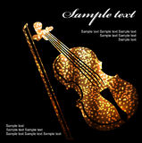 Violins. Set of classical musical violins instruments in silhouette style, such as emblem Stock Photo
