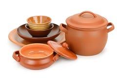 Set clay utensils royalty free stock photo