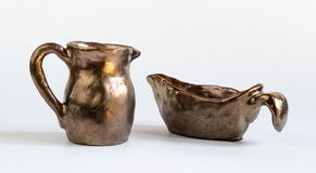Set of Clay Vessels Stock Photos
