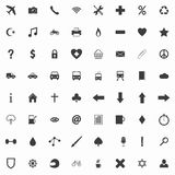 Set of clean flat icons Royalty Free Stock Photography
