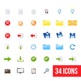 Set of clean  web icons Royalty Free Stock Photo