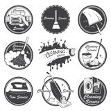 Set of cleaning service emblems Royalty Free Stock Image