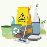 Set of cleaning service emblems, labels and Royalty Free Stock Image