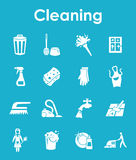 Set of cleaning simple icons Royalty Free Stock Photo