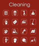 Set of cleaning simple icons Royalty Free Stock Photos