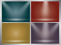 Set of clear empty studio light vector earth tone backgrounds Stock Photos