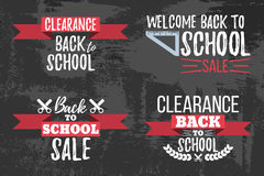 Set of Clearance Sale School Typographic. Set of Clearance Sale School Typographic - Vintage Style Back to School Royalty Free Stock Image