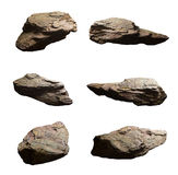 Set of cliff stones isolated white background Royalty Free Stock Image