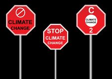 Climate change signs vector illustration