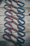 A set of climbing carbines royalty free stock images