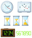 Set of  clock Royalty Free Stock Photography