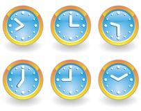 Set of clock Stock Photo