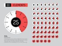 Set clock dial timer vector illustration