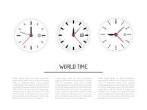 Set clock dial timer Royalty Free Stock Photos