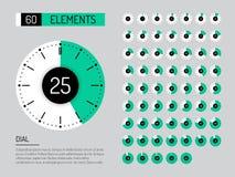 Set clock dial timer Stock Photography