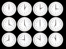 Set of clock faces Royalty Free Stock Images