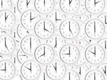 Set of clock faces Stock Photography