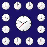 Set clock icon Vector illustration design EPS10 Stock Image