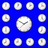 Set clock icon Vector illustration design EPS10 Stock Photography