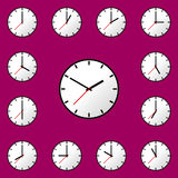 Set clock icon Vector illustration design EPS10 Royalty Free Stock Photo