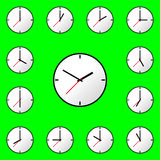 Set clock icon Vector illustration design EPS10 Royalty Free Stock Photos