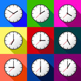 Set clock icon Vector illustration design EPS10 Royalty Free Stock Photography