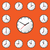 Set clock icon Vector illustration design EPS10 Royalty Free Stock Images