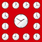 Set clock icon Vector illustration design EPS10 Stock Images