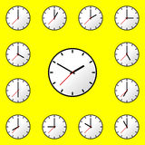 Set clock icon Vector illustration design EPS10 Stock Photo